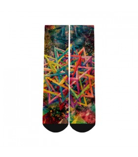 abstract art printed socks