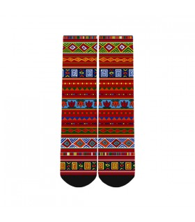 abstract pattern printed socks
