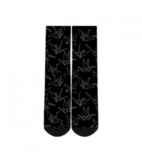 paper art printed socks