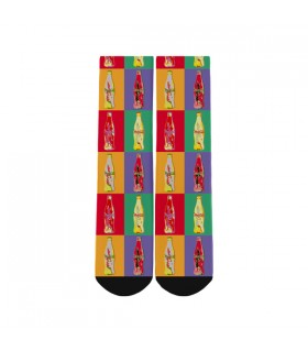 pop art pattern printed socks