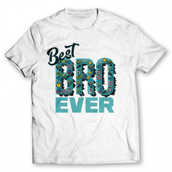 best bro ever printed graphic t-shirt Price in Pakistan - TheWarehouse