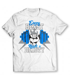 every beast needs a beauty printed graphic t-shirt