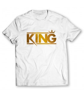 king printed graphic t-shirt