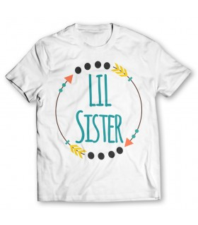 Lil sister printed graphic t-shirt