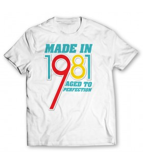 made in 1981 printed graphic t-shirt