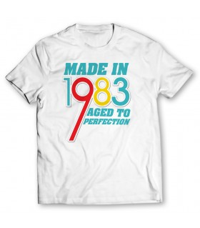 made in 1983 printed graphic t-shirt