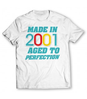 made in 2001 printed graphic t-shirt