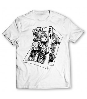 king card printed graphic t-shirt