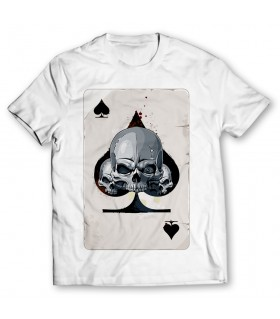 spade card printed graphic t-shirt