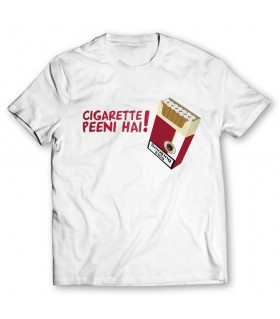 cigarette peeni hai printed graphic t-shirt