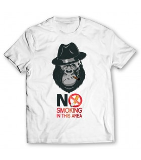 no smoking in this area printed graphic t-shirt