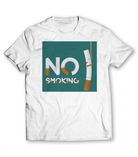 no smoking printed graphic t-shirt