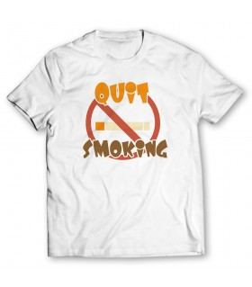 quit smoking printed graphic t-shirt