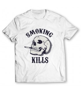 smoking kills printed graphic t-shirt