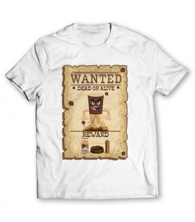 wanted poster printed graphic t-shirt