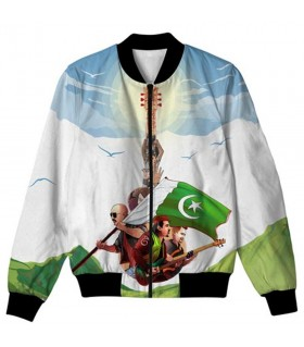 Sooper Junoon all over printed jacket