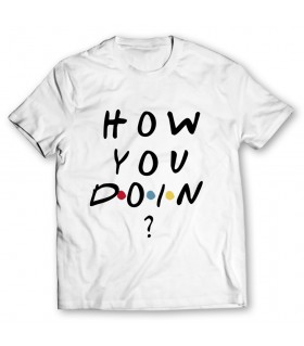 how you doin printed graphic t-shirt