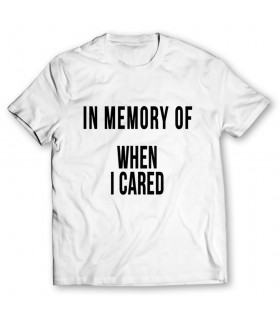 when i cared printed graphic t-shirt