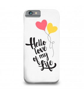hello love printed mobile cover