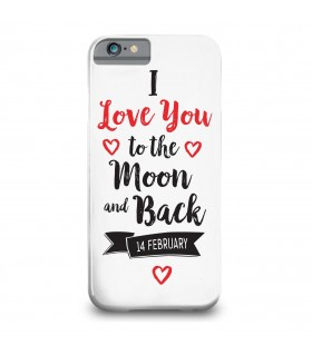 i love you printed mobile cover