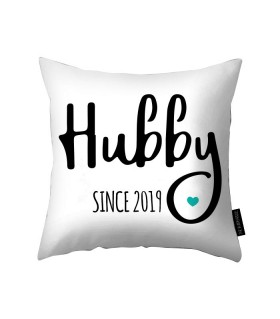 Hubby printed pillow