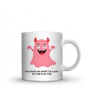 you make me happy printed mug