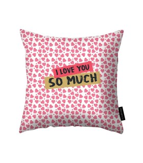 i love you so much printed pillow
