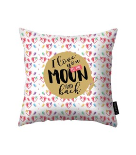 i love you to the moon printed pillow