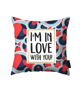 love with you printed pillow