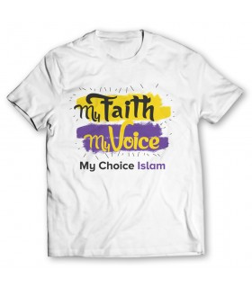my faith my voice printed graphic t-shirt