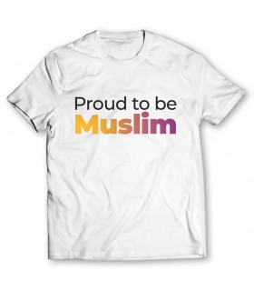 proud to be muslim printed graphic t-shirt