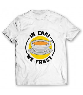chai we trust printed graphic t-shirt