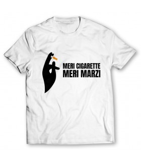 meri cigarette printed graphic t-shirt