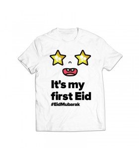 first eid printed graphic t-shirt
