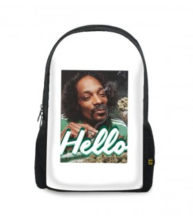 hello printed backpacks