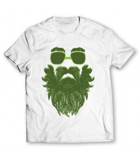 weed beard printed graphic t-shirt