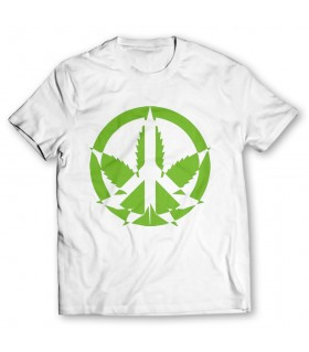 weed printed graphic t-shirt