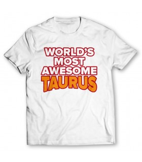 most awesome taurus printed graphic t-shirt