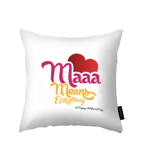 maaa printed pillow