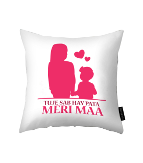 meri maa printed pillow