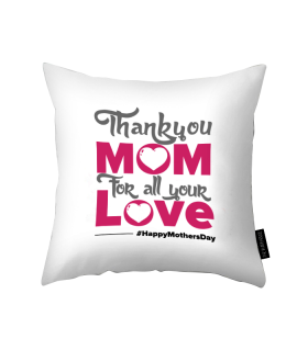 thank you mom printed pillow