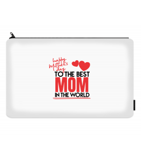 the best mom printed makeup pouch