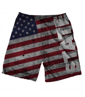 state printed shorts