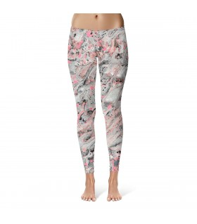 grey Abstract art printed legging