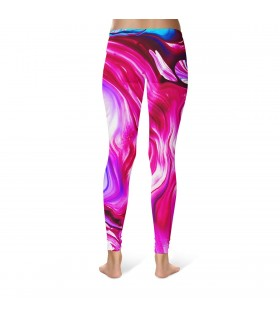 oil paint printed legging