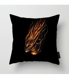 abstract skull art printed pillow