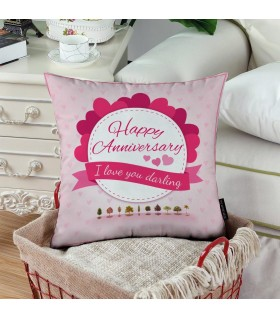 happy anniversary i love you darling printed pillow
