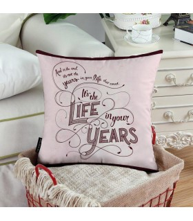 life year printed pillow