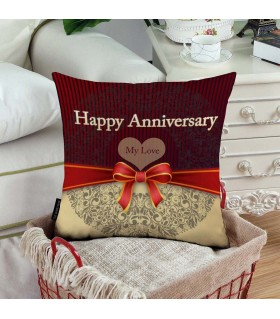 my love happy anniversary printed pillow