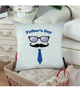 Cute happy fathers day printed pillow